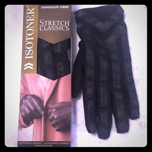 NIB Isotoner Thinsulate Lined Men's Black Gloves🧤